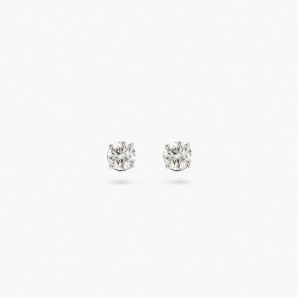 White gold earrings ((1848)) set with brilliants