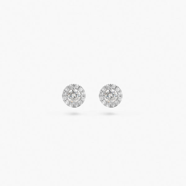 White gold earrings ((1848 Entourage)) set with brilliants