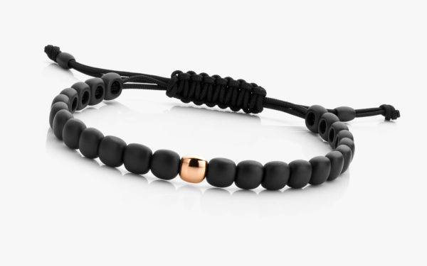 Ceramic bracelet with 1 rose gold bead