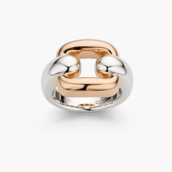 Rose gold and silver ring Link