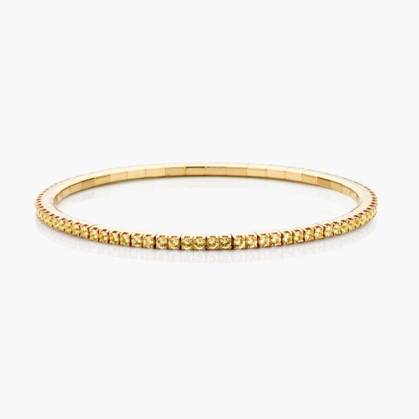Geelgouden armband ((Extensible)) gezet met gele saffieren