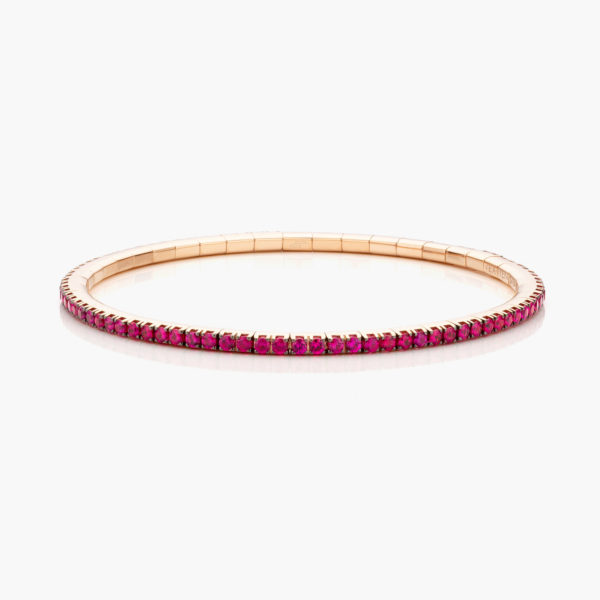 Armband Extensible Rood Goud Robijnen Juwelen Colorama Maison De Greef 1848