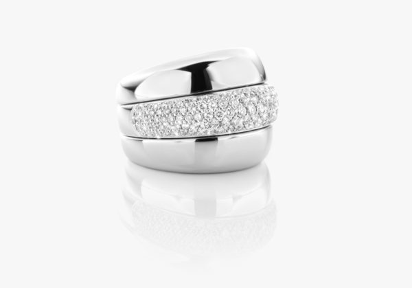 Bague Diamants Or Blanc Links Joaillerie Degreef