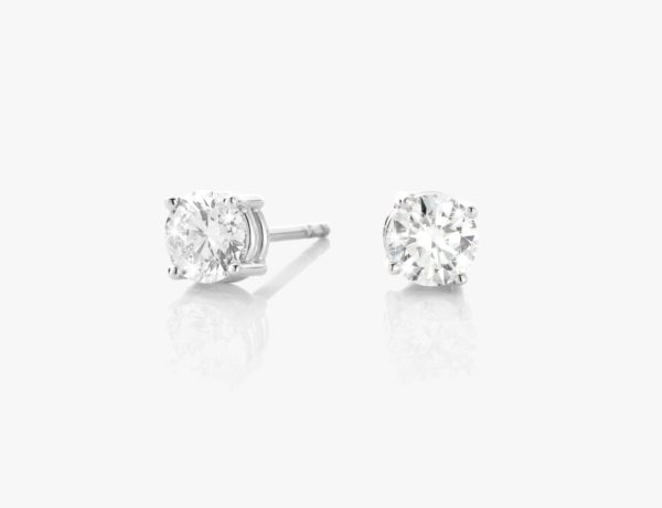 Boucles Oreilles Diamants Brillant Or Blanc 1848 Generation Game Joaillerie Degreef