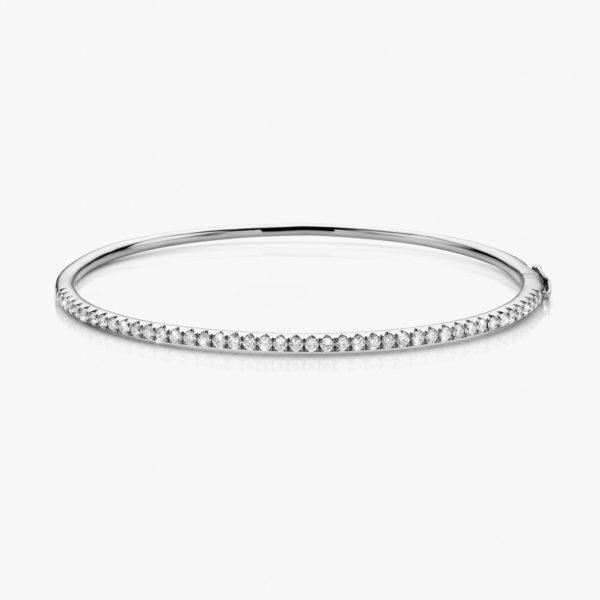 Bracelet Colorama Diamonds White Gold Diamonds Bangle Jewellery Maison De Greef 1848