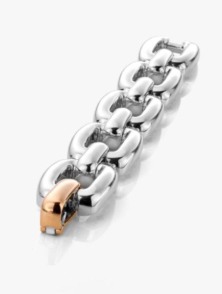 Bracelet Diamants Argent Or Rose Links Joaillerie Degreef