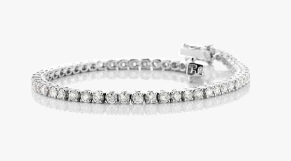Bracelet Diamants Brillant Or Blanc Eternity Fiancailles Joaillerie Degreef