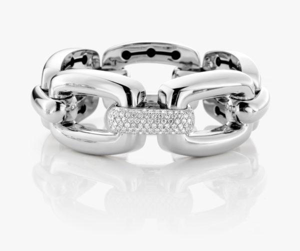 Bracelet Diamants Or Blanc Links Joaillerie Degreef