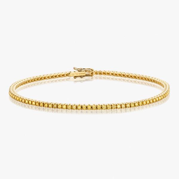 Bracelet Diamonds Riviere Or Jaune Diamants Brillants Fancy Yellow Maison De Greef 1848
