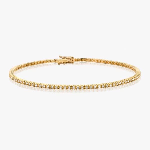 Bracelet Diamonds Riviere Or Jaune Diamants Brillants Maison De Greef 1848