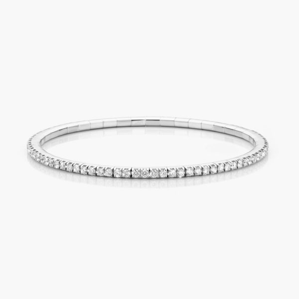 Bracelet Extensible Or Blanc Diamants Brillants Joaillerie Colorama Maison De Greef 1848