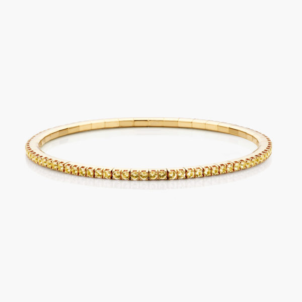 Bracelet Extensible Or Jaune Saphirs Jaunes Joaillerie Colorama Maison De Greef 1848