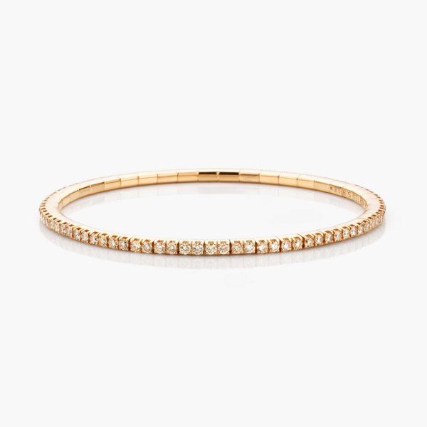 Bracelet Extensible Or Rose Diamants Bruns Brillants Joaillerie Colorama Maison De Greef 1848