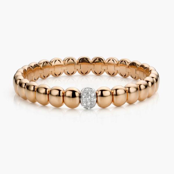 Bracelet Gold Ceramic Or Rose Diamants Brillants Maison De Greef 1848