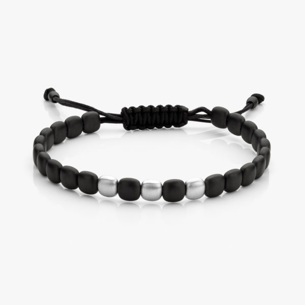 Bracelet Men Ceramique Noir Or Blanc 3 Mat Maison De Greef 1848