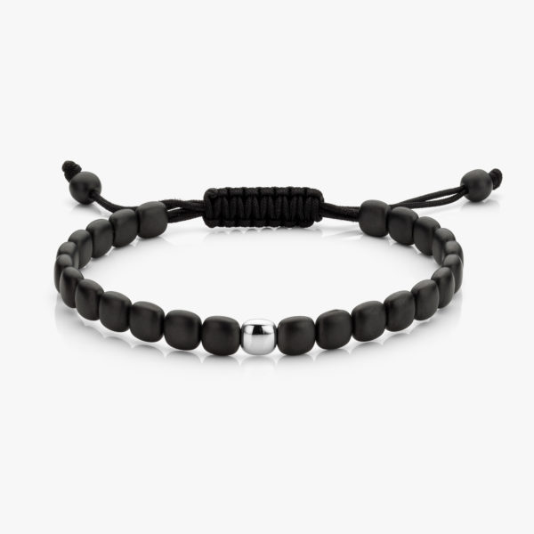Bracelet Men Ceramique Noir Or Blanc Maison De Greef 1848