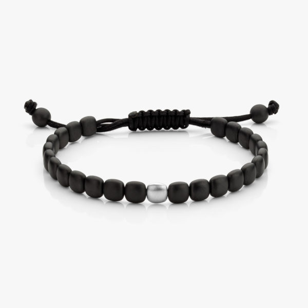 Bracelet Men Ceramique Noir Or Blanc Mat Maison De Greef 1848