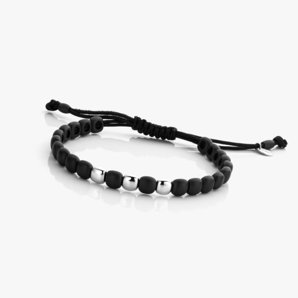 Black ceramic and white gold bracelet