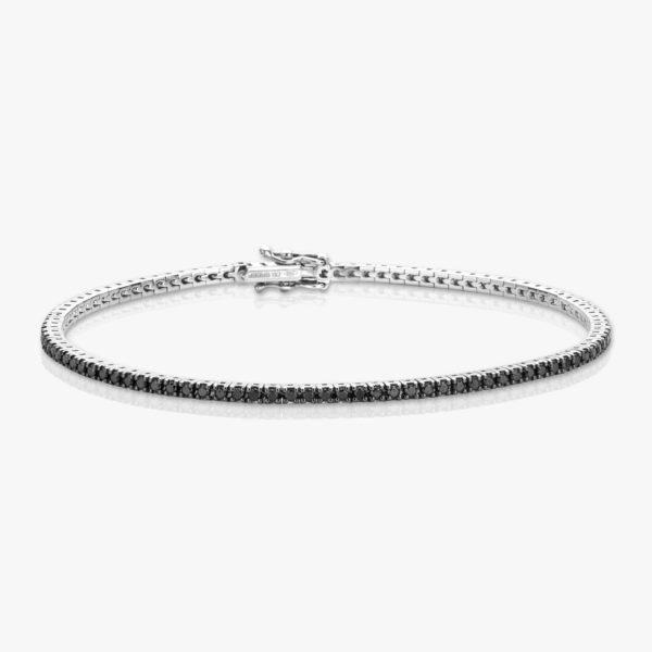 Bracelet Or Blanc Diamant Brillants Noir Diamonds Joaillerie Maison De Greef 1848