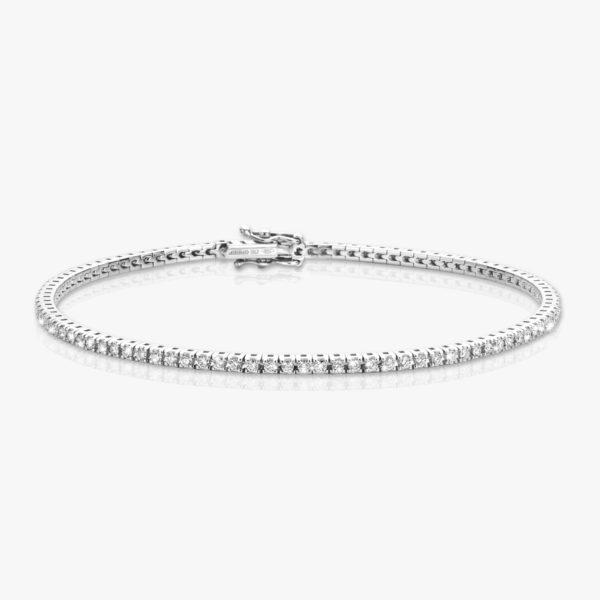 Bracelet Or Blanc Diamants Brillants Diamonds Joaillerie Maison De Greef 1848
