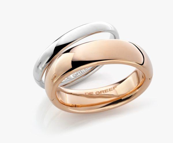 Bracelet Or Blanc Rose Bangels Gold Joaillerie Degreef