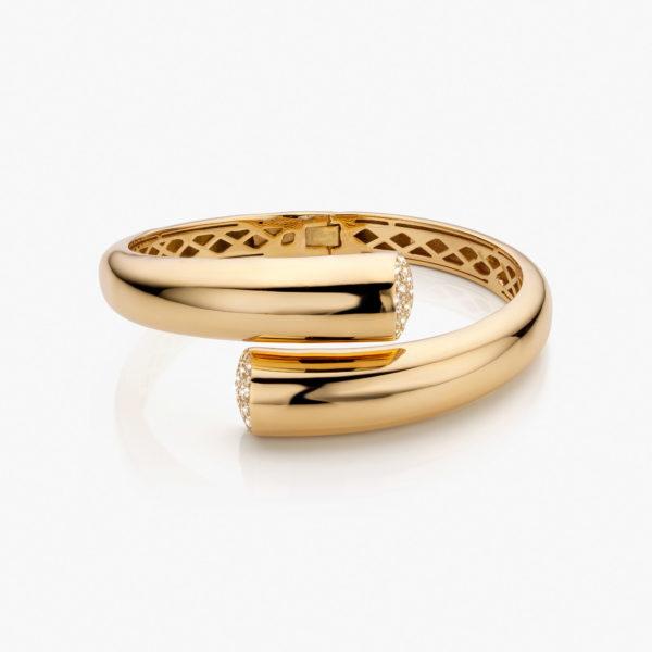 Bracelet Or Jaune Diamants Brillants Gold Maison De Greef 1848