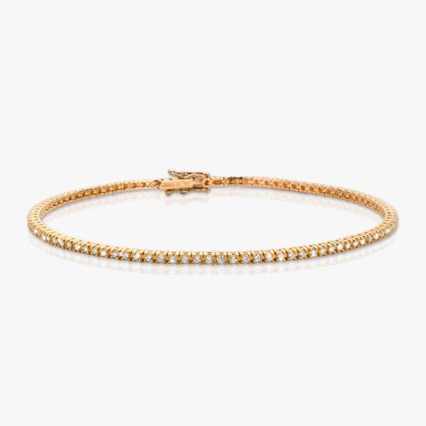 Bracelet Or Rose Diamants Brillant Diamonds Joaillerie Maison De Greef 1848