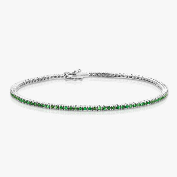 Bracelet Tsavorites Green White Gold Colorama Jewellery Maison De Greef 1848
