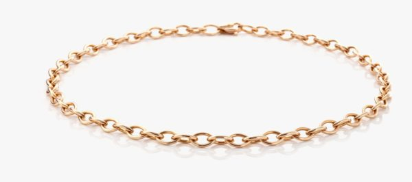 Collier Or Rose Chain Gold Joaillerie Degreef
