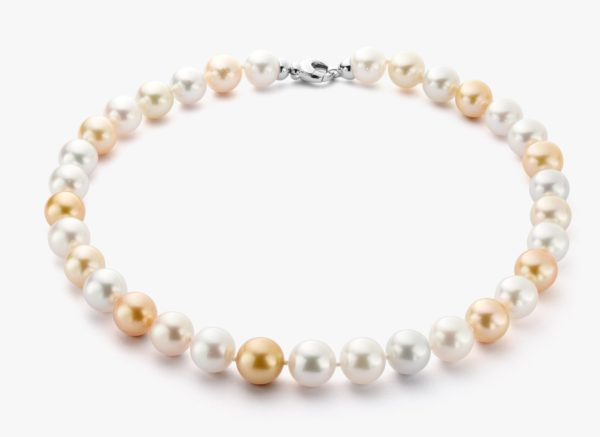 White gold South Sea pearl necklace