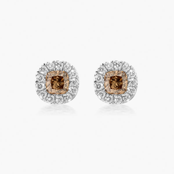 Earrings Diamonds Entourage White Gold Diamonds Brown Fancy Jewellery Maison De Greef 1848