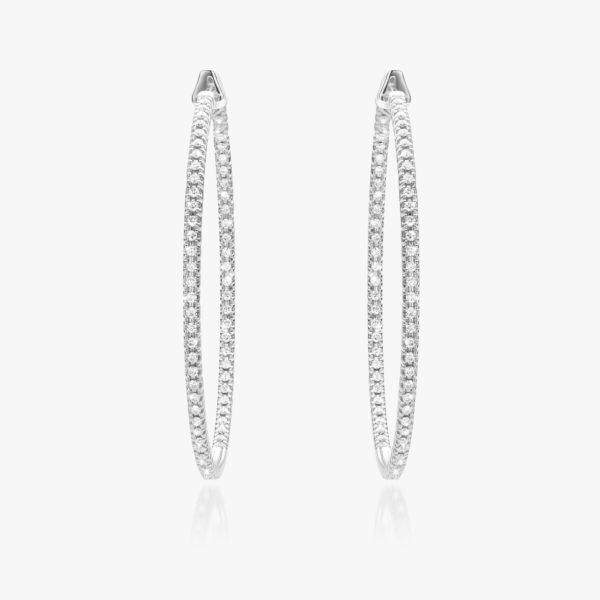 Earrings Diamonds White Gold Brilliants Hoops Maison De Greef 1848