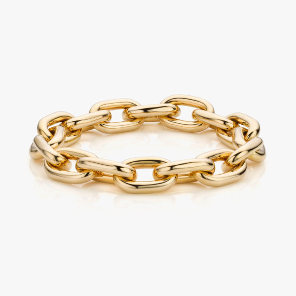Yellow gold bracelet ((Entrelacs))