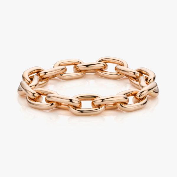 Rose gold bracelet ((Entrelacs))