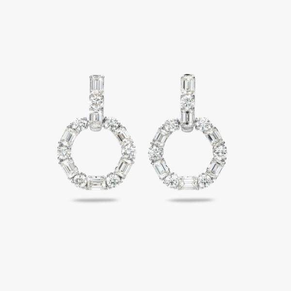 Oorbellen Diamonds Wit Goud Diamanten Briljanten Smaragd Geslepen Maison De Greef 1848