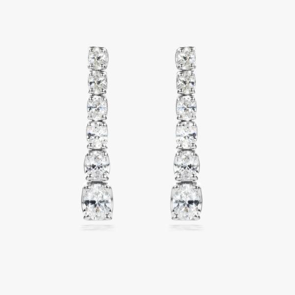Oorbellen Diamonds Wit Goud Diamanten Ovaal Maison De Greef 1848