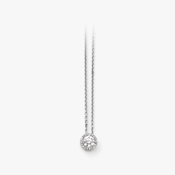 Pendant Diamonds Entourage Diamonds White Gold Jewellery Maison De Greef 1848