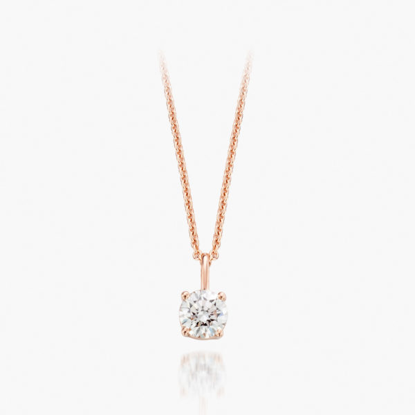 Pendant Diamonds Rose Gold Diamonds Solitaire Jewellery Maison De Greef 1848