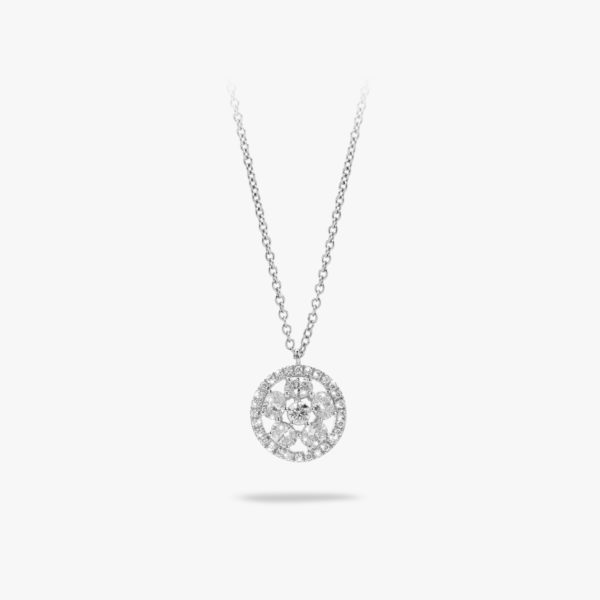 Pendant Diamonds White Gold Diamonds Brilliants Jewellery Maison De Greef 1848