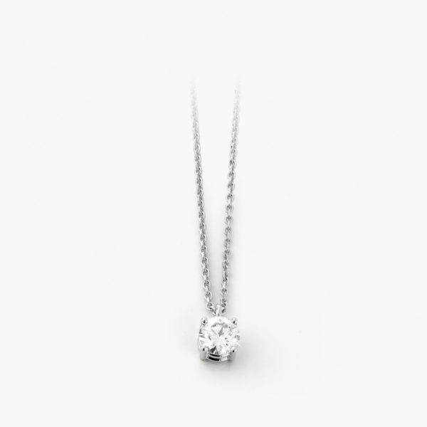 Pendant Diamonds White Gold Diamonds Solitaire Jewellery Maison De Greef 1848