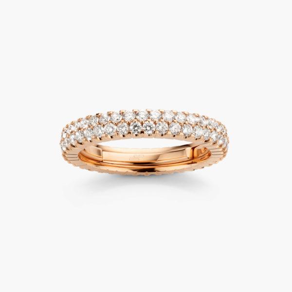 Roodgouden ring ((Extensible)) gezet met briljanten