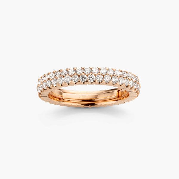 Ring Extensible Rose Gold Diamonds Brilliants Jewellery Colorama Maison De Greef 1848