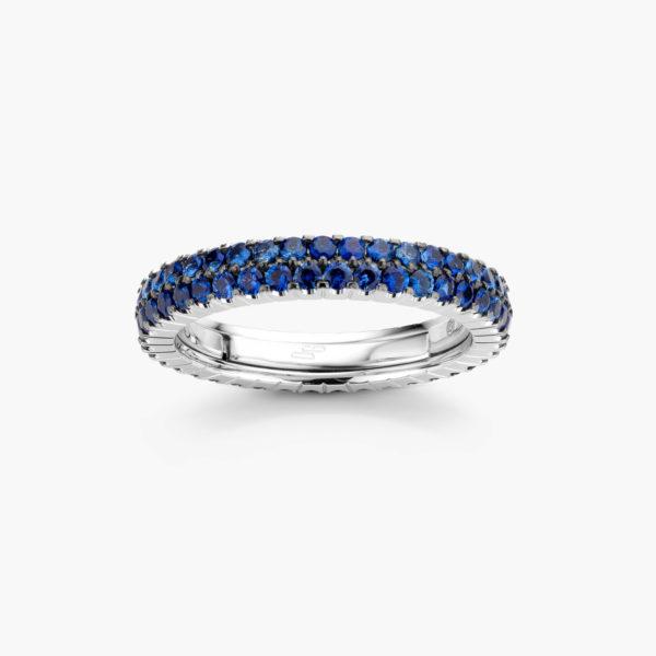 Witgouden ring ((Extensible)) gezet met blauwe saffieren