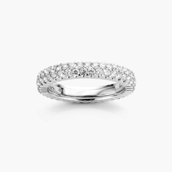 Witgouden ring ((Extensible)) gezet met briljanten