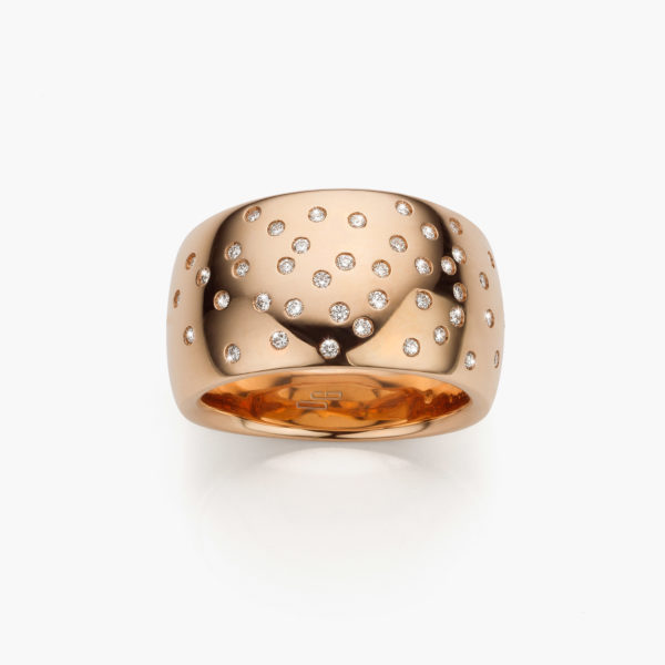 Ring Gold Ceramic Rose Gold Diamonds Brilliants Constellation Maison De Greef 1848