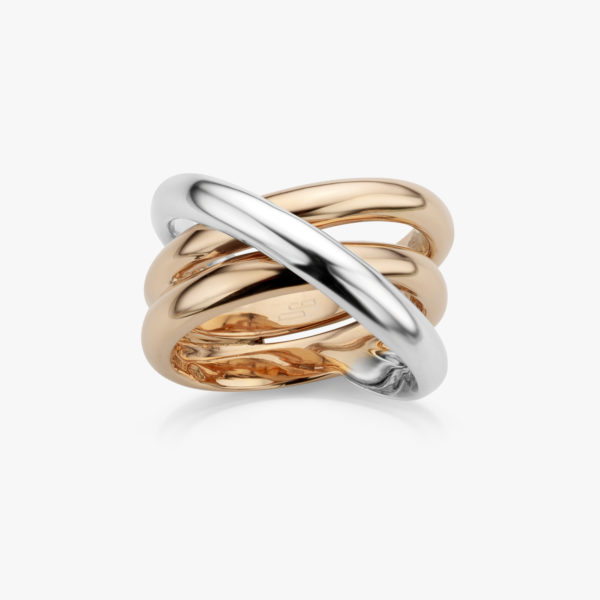 Ring Gold Ceramic Rose White Gold Jewellery Maison De Greef 1848