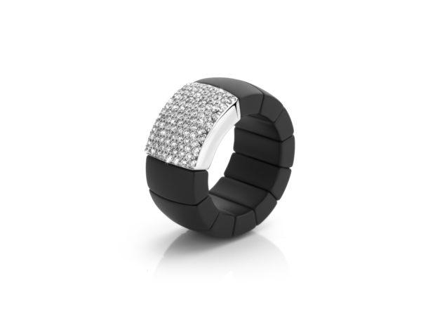 Ring Roberto Demeglio Keramiek Zwart Wit Goud Diamanten Juwelen Maison De Greef 1848