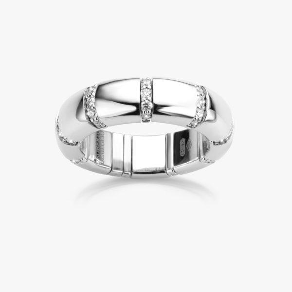 Witgouden ring ((Pura Oro)) gezet met briljanten