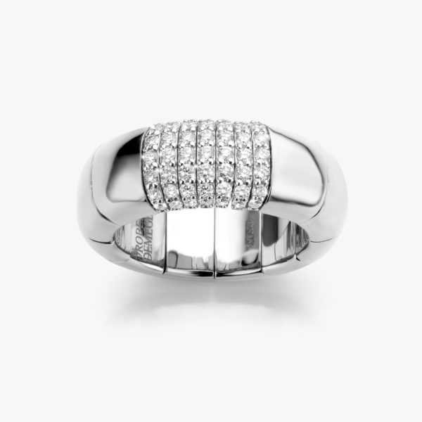 Ring Roberto Demeglio Pura Oro White Gold Diamonds Brilliants Maison De Greef 1848