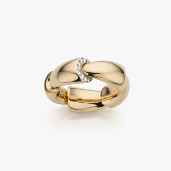 Rose gold ring ((Calla)) set with brilliants